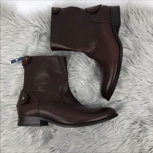 Frye Melissa zipper button short boots size 9.5